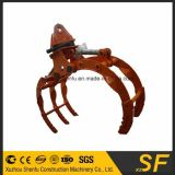 360degree Rotated Hydraulic Log Grapple for Excavator Bucket