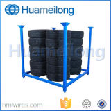 Warehouse Folding Stacking Metal Tire Storage Rack for Sale