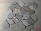 Beige Grey Crazy Flagstone Mats Slate for Flooring Tile