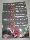 Election Campaign Advertising Sticer Poster
