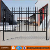 Decorative Powder Coated Industrial Steel Picket Fence