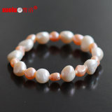 Stretch Fashion Bracelet Jewellery Natural Freshwater Baroque Pearls (E150050)