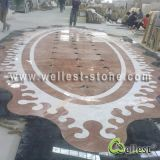 Water Jet Honey Comb Marble Medallion / Marble Pattern/ Mosaic