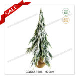 LED H2.3 Feet Needle Pine Plastic Christmas Tree with Snow
