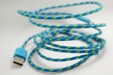 Colorful Weave Micro USB 5 Pin Data Charger Cable for Samsung HTC