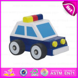 2015 Cute Mini Wooden Police Toy Car for Kids, Wooden Toy Police Car for Children, Good Quality Baby Wooden Police Toy Car W04A099