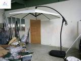 Hz-Um71 10ft (3m) Hand Push Hanging Banana Umbrella Garden Umbrella Outdoor Umbrella Parasol Sun Umbrella