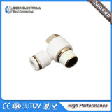 Quick Connect Coupling Plastic Pneumatic Hose Connector with Brass Fitting