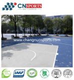 Roll Coated Silicone Polyurethane Sports Flooring with Good Performance