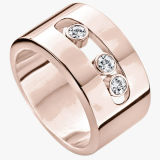 Fashion Rose Gold Jewelry 925 Silver Move Rings