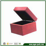 Contracted Style Red Square Wooden Jewelry Box