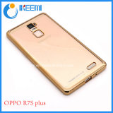 Clear Soft Transparent Electroplate TPU Case for Oppo R7s/Plus