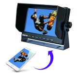 10.1 Inch Mirror Link Car Rear View LCD Monitor 2 AV Input and Built in Speaker Include Removable Sunshield