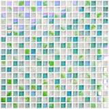 Export Quality Peel and Stick Backsplash Wall Tile Crystal Glass Mosaic