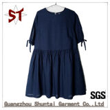 Wholesale Cotton and Linen Casual Simple Pleated Skirt