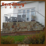 Indoor Decorative Staircase Stainless Steel Glass Stair Railing Balustrade (SJ-H1461)