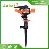 "Garden Tools Lawn Irrigation 1/2"" Plastic Impulse Sprinkler with Spike"