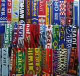100% Acrylic Double Sides Knitting Jacqaurd Football Scarf