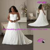 Overlace A Line Bridal Wedding Gowns with Sweetheart Neckline