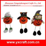 Halloween Ghost Black Cat and Witch Decoration