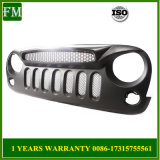 Front ABS Mesh Ghost Grille Face for Jeep Wrangler Jk