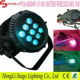 Outdoor 9PCS*18W Rgbawuv 6in1 Wireless LED battery PAR