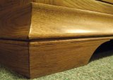 Wooden King Sleigh Bed French Style Oak Range Bedroom Furniture