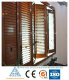 Shutters with Wood-Grain Transfer Surface Treatment