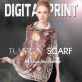 2017 Customize Design Digital Printing Cotton Scarf