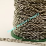 Tying 2.4mm Bright Silver Metal Hollow Bead Jewelry Chain