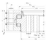 Rothe Erde Three Row Roller Slewing Bearings with Internal/Inner Gear