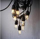 48FT Outdoor Vintage Filament LED String Light with 15PCS Plus 3PCS Extra S14 LED Light Bulbs