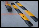 Gw8001 Rubber Speed Hump Yellow and Black Road Safety Product