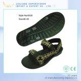 Customized EVA Men Sandals, Flat Black Sandals