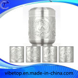 Creative Gift Tin Tea Can Chinese Style Carving (TC-T02-2)