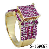 New Designs Micro Pave Setting Ruby Rings 14k Gold Plated