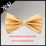 100% Silk Jacquard Woven Wholesale Gold Bow Tie