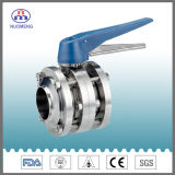 Sanitary Stainless Steel Manual Welded Three-Piece Butterfly Valve (RJT)