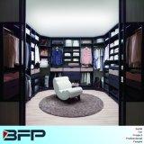 Blue Wooden Walk in Closet Dressing Furniture