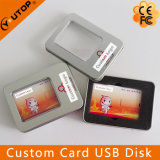 Custom Credit Card USB Flash Disk with Gift Tin Box (YT-3101)