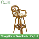 Amarillo Swivel Rattan Barstool with Arms