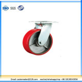 Heavy Duty Double Ball/Roller Bearing Cast Iron Core PU Caster