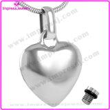 Ijd8100 High Polish Blank Heart Cremation Pendant Necklace Ashes Keepsake Memorial Holder