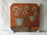 Contemporary Orange Flowers Contracted Cafe Home Decor Canvas Painting