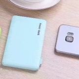 4000mAh Candy Color USB Power Bank with USB Charger Cables