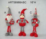 """16""""H Standing Santa, Doll and Mouse, 3 Asst-Christmas Decoration Toy"""