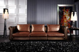 Office Sofa Modern Leather Home Wooden Sofa Sets (UL-NS496)