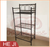 Powder Coated Black Wire Storage Rack/Storage Shelf with Three Layers