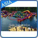 Beach Inflatable Water Park, Lake Floating Water Games, Commercial Aqua Park