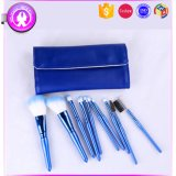 10PCS Blue Cosmetic Makeup Brush Set with PU Leather